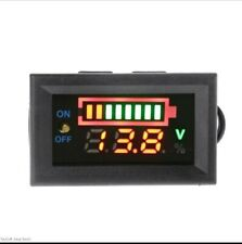 LCD 12V Battery Status Voltage Voltmeter Monitor Meter Caravan