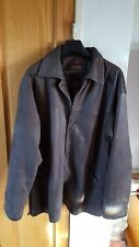MANS HEAVY REAL LEATHER COAT  LARGE