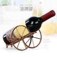 Single Bottle Kitchen Bar Bike Wine Tabletop Rack Holder Stand Bronze Display