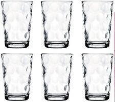 Pasabche Polka Dot Glass Tumbler Set Stackable Juice Water Glasses Set of 6