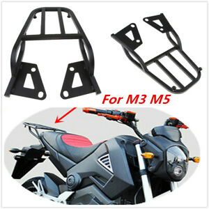 Black Motorcycle Rear Shelf Refitted Box Tail Fin Luggage Rack Kit For M3/M5