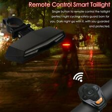 Bike Bicycle Wireless Remote Control Rear Lamp Taillight Turn Signal Laser light