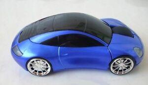 Souris Porsche 911 auto voiture Bleue Wireless optical mouse car Drahtlose Maus