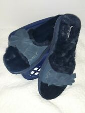 KOOLABURRA BY UGG🐎 WOMEN'S FURRY SLIPPER  SLIDES BLUE. (10) USA 41(UK) NEW.