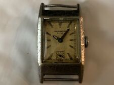 Vintage Military Style Watch Hand Wind 15 Jewels Hinged Cover