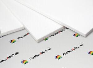 PVC weiß Hartschaumplatten auf Maß ! Maßgefertigte Zuschnitt von 2mm bis 19mm