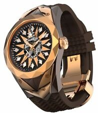1 IN STOCK - New Watchstar SuperStar Skeleton Dial Rose Gold Automatic Watch