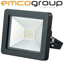 EMCO LED Waterproof 10W Floodlight Slim Outdoor IP65 Garden Security Spot Light