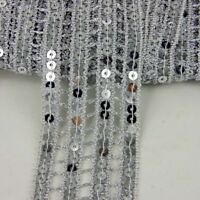 1//3//5//10//90M AB Transparent Pink 6mm Sequin Trimming String Flat Round Costume
