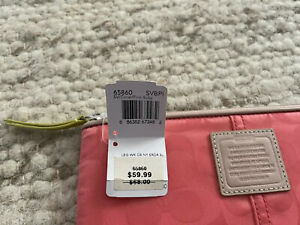 NWT Coach Signature Tablet or iPad Sleeve Case Colorblock Coral, Pink, Ruby $68