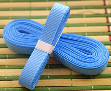 "Blue 5yds 3/8"" (10 mm)Solid Grosgrain Ribbon Hair Bows Ribbion"