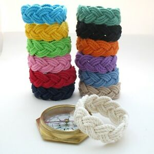Original Sailor Knot Surfer Beach Rope Bracelet by Mystic Knotwork: 13 Colors