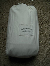 RESTORATION HARDWARE Stonewashed Cotton Linen CAL-KING Sheets Set NEW - White