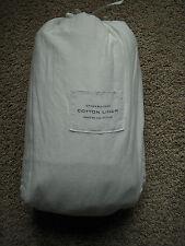 RESTORATION HARDWARE Stonewashed Cotton Linen KING Sheets Set NEW - White