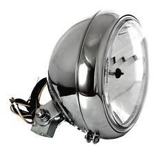 "7 "" Clear Glass Chrome Headlight Big Custom FOR HARLEY FATBOY HERITAGE SOFTAIL"