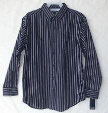 Nautica Navy/Blue Boys Striped Button Down Shirt size 20 REG NWT B5249