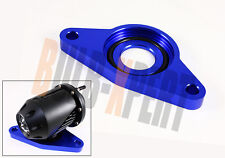 ANODIZED BLUE HKS SSQV BLOW OFF VALVE BOV DIRECT FIT FLANGE ADAPTER FOR STI/WRX