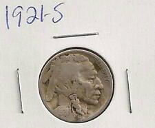 1921-S Buffalo Nickel : Very Good