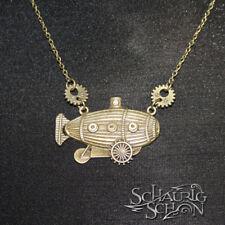 Steampunk Kette Luftschiff, Zahnräder, antik bronze, handmade
