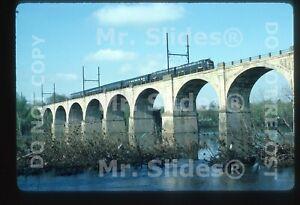 Original Slide CR Conrail Business Train E8As 4020 & 4021 Action In 1987