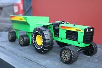 Tonka Toys No XMB-975 John Deere Tractor + Trailer - Pressed Steel