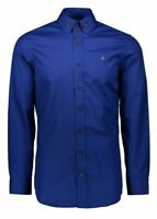 Vivienne Westwood Mens Two Button Krall Shirt - Royal Blue RRP£195 Size 50 Large