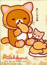San-X Rilakkuma Relax Bear A4 Plastic File Folder #63 (Cat)