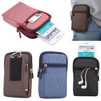 Jean Leather Messenger Waist Belt Hiking Hook Bag Outdoor Smart Phone Case Skin