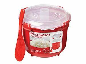 Sistema Mikrowellenreiskocher 2,6 L 1110zs Rottransparent Microwave Rund Steamer