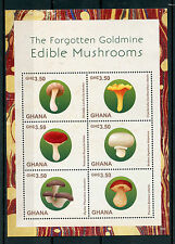 Ghana 2015 MNH i funghi commestibili dimenticato preziose 6V M / S Shiitake PORCINI