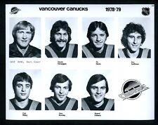 Vancouver Canucks LOT of 4 team issued 1978 Press Photos