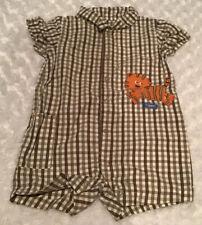 Carter's Baby Boy Romper Size 12 Months In Euc (Bin Ai) ��