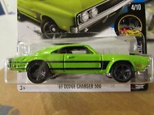 Hot Wheels '69 Dodge Charger 500 Night Burnerz Green