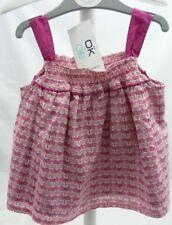 Obaïdi tunique robe sans manche rose motif libellules fille 6 mois
