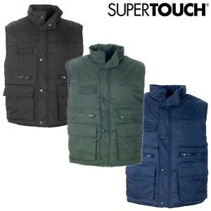 High Quality Mens Padded Work Body Warmer Gilet Bodywarmer Multi Pocket Vest Pro