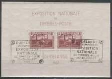 Luxemburg 1937 gestempeld block 2 - Expositie Dudelange (SG249)