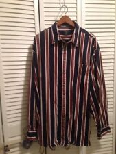 SALMON RIVER TRADERS Western Long Sleeve Button Front Shirt Striped Size 2XLT