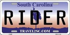 Rider South Carolina Novelty Metal License Plate