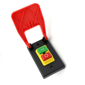 Off-On Red Cover Emergency Stop Push Button Switch 16A Power-Off/Undervolta