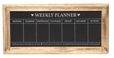 Kreidetafel Weekly Planner im Holzrahmen - Landhaus Stil - 67x32cm