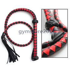 1.4m Red&Black Faux Leather Whip Riding Crop Night Party Flogger Queen Game Toy