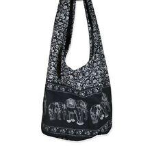 Hippie Elephant Sling Crossbody Bag Shoulder Bag Purse Thai Top Zip Handmade ...