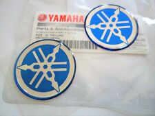 Yamaha GENUINE Tuning Fork Stickers Sticker 40mm BLUE YZR FAZER FZ FJ RD YZ x 2