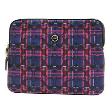 NWT Coach Poppy Tartan Universal Sleeve Case in Navy Multi $88 #62818