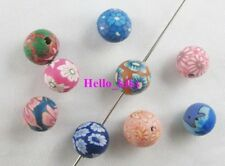 400Pcs Mixed colour Fimo Polymer Clay floral Round beads