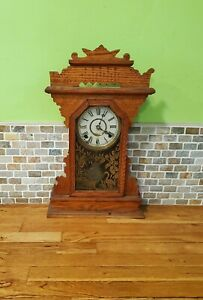Antique William L Gilbert Kitchen Chime Clock Working