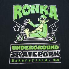RONKA UNDERGROUND SKATE PARK BAKERSFIELD CALIFORNIA T SHIRT M SKATEBOARD SCOOTER