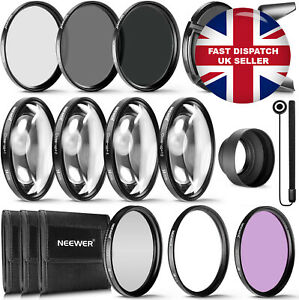 Neewer® 58MM Complete Lens Filter Accessory Kit UV CPL FLD ND 2 4 8 Close Up