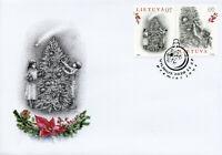 Lithuania Christmas Stamps 2020 FDC New Year Christmas Trees 1v Set