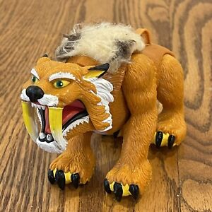 Imaginext Sabertooth tiger Thorn  Mattel 2005 Fur mane Works Brown Yellow